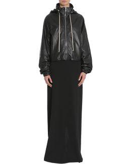Windbreaker Cropped Leather Jacket