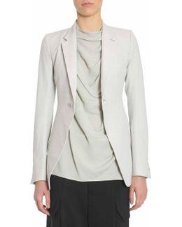 Single-breasted Iridescent Fabric Jacket