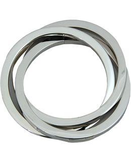 Silver Aluminium Triple Bracelet