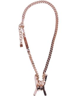 Barbed Wire Brass Necklace