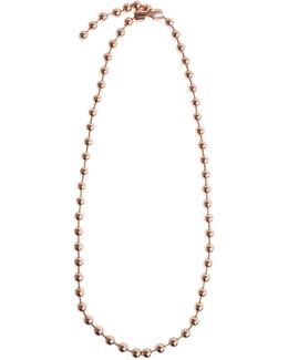 Boule Brass Necklace