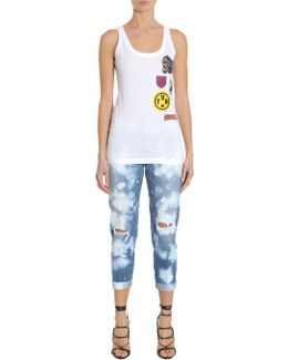 Embroidered Cotton Tank Top