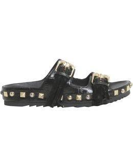 Utah Leather Sandals With Double Buckle