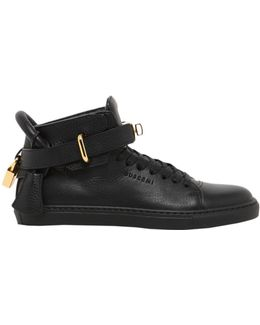 High Top Sneakers With Lock Detail