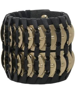 Samurai Bracelet With Brass Insert