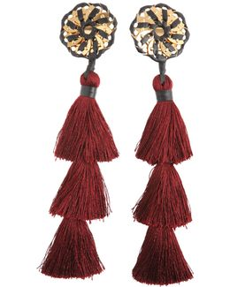 Samurai Earrings With Tassels