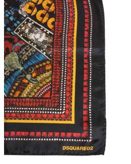 Samurai Print Silk Foulard