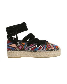 Beaded Embroidered Xenos Espadrilles
