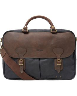 Wax Leather Briefcase