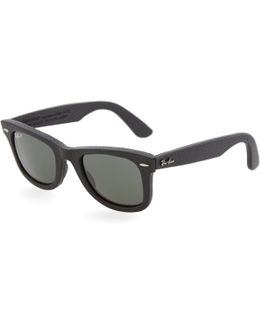 Wayfarer Leather Sunglasses
