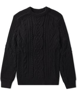 Chunky Cable Crew Knit