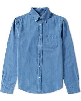 Indigo Oxford Shirt