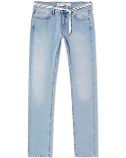 Sprayed Diagonals Slim Fit Jean