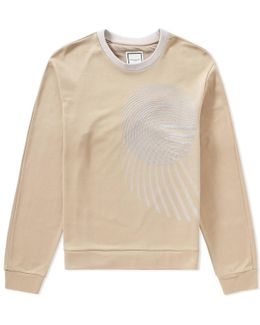 Embroidered Circle Crew Sweat