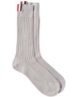 Triclolour Detail Rib Sock
