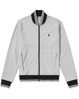 Tipped Jersey Bomber Jacket