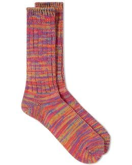 5 Colour Mix Crew Sock