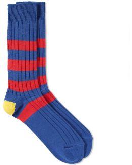 Stripe Crew Sock