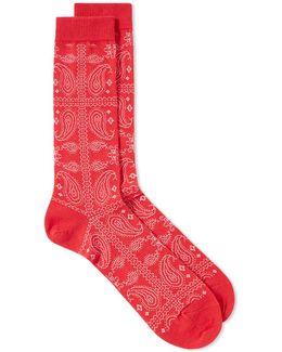 Paisley Crew Sock