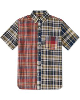 Short Sleeve Crazy Check Shirt