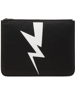 Abstract Bolt Large Zip Holder