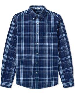 Indigo Check Button Down Shirt