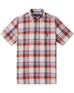 Button Down Popover Madras Shirt