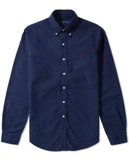 Slim Fit Garment Dyed Oxford Shirt