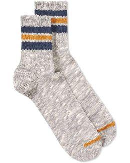 3 Line Slub Socks