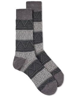 Mountain Range Crew Sock