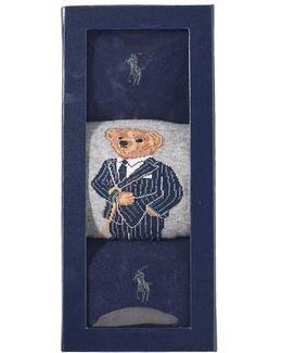 Assorted Bear Sock - 3 Pack