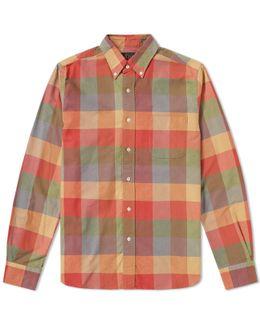 Button Down Multi Check Shirt