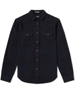 Overdyed Flannel Check Shirt