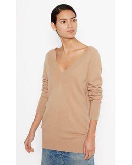 Linden Cashmere V-neck Sweater