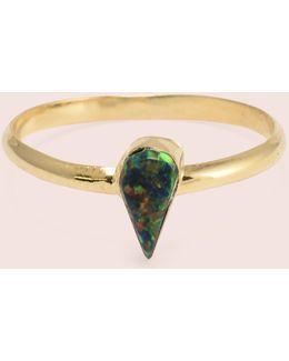Golden Teardrop Opal Rings