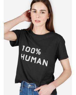 The 100% Human Box-cut Tee In Medium Print