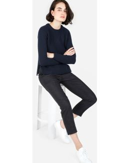 The Ribbed Wool-cashmere Crew
