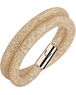 Stardust Deluxe Crystal Rose-goldplated Wrap Bracelet