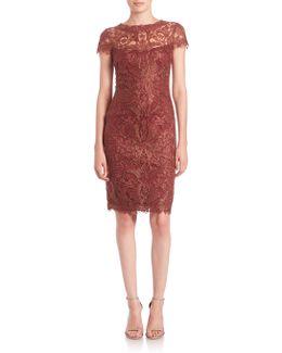 Soutache-embroidered Sheath Dress