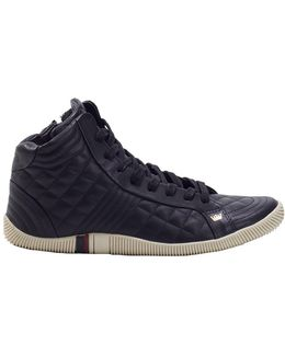 Quilted Hitop Sneakers