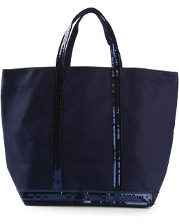 Sequin Embroidered Tote