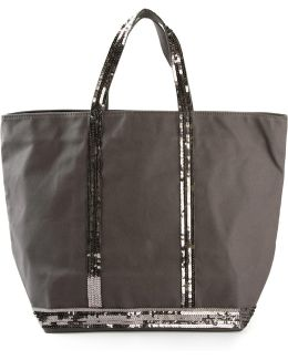- Sequin Embellished Tote - Women - Cotton - One Size