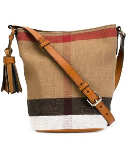 Ashby Small Canvas Check & Leather Crossbody