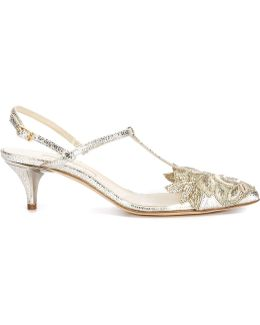 Floral Embroidery Detail Pumps