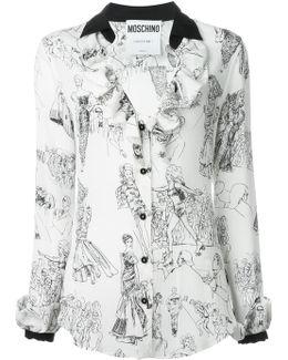 Fashion Show Print Blouse