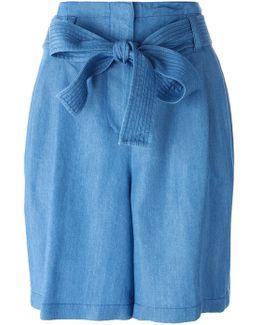 Tie Waist Chambray Shorts