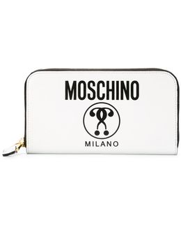 - Logo Print Wallet - Women - Calf Leather - One Size