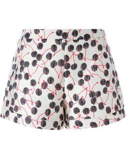 Cherry Brocade Shorts