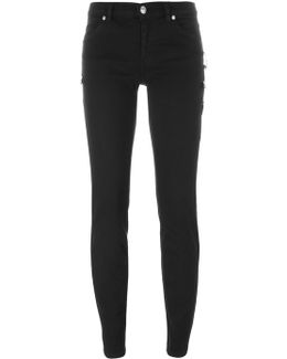 Safety Pin Detail Skinny Jeans