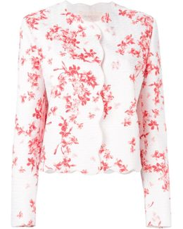 Scalloped Trim Floral Jacket
